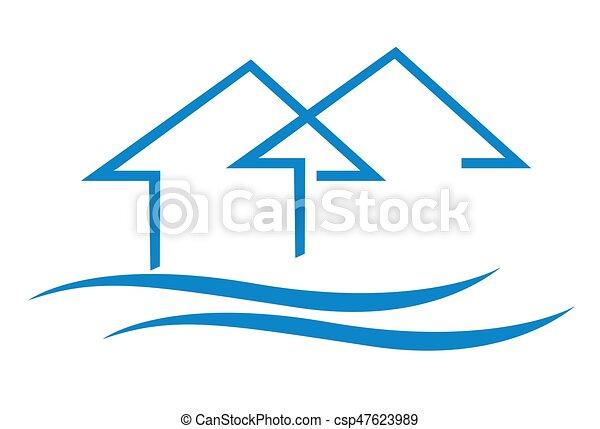 家, ベクトル, アイコン - csp47623989