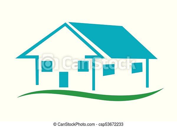 家, ベクトル, アイコン - csp53672233
