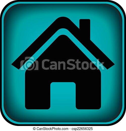 家, ボタン - csp22656325