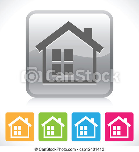 家, ボタン - csp12401412