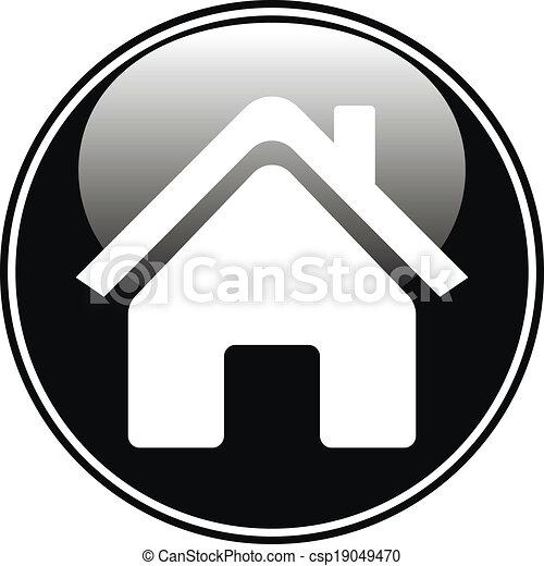 家, ボタン - csp19049470