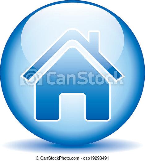 家, ボタン - csp19293491