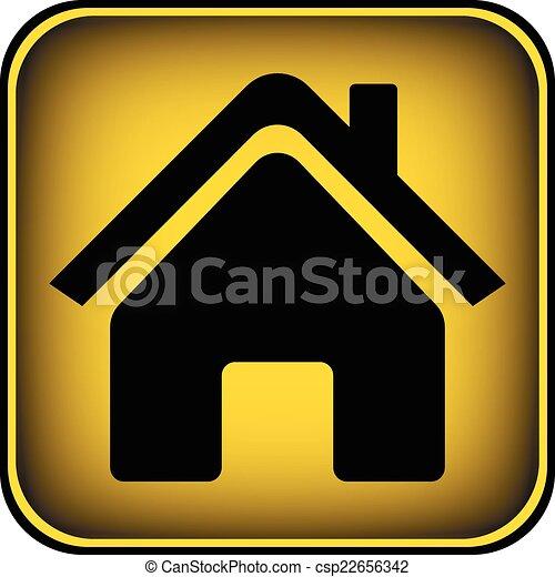 家, ボタン - csp22656342