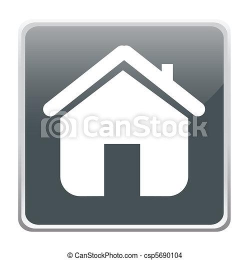 家, ボタン - csp5690104