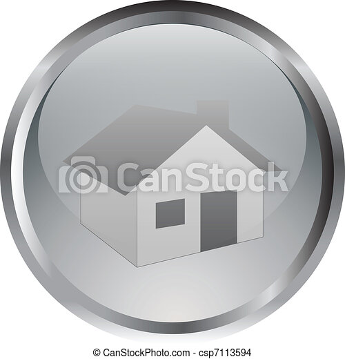 家, ボタン - csp7113594