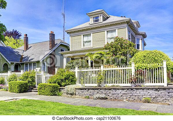 家, 入口, 光景, exterior., ポーチ - csp21100676