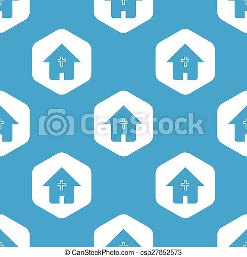 家, 六角形, キリスト教徒, パターン - csp27852573
