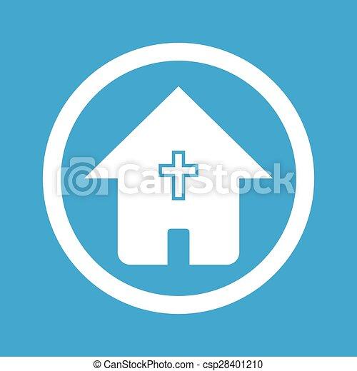 家, 印, キリスト教徒, アイコン - csp28401210