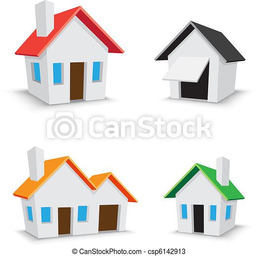 家, 图标 - csp6142913