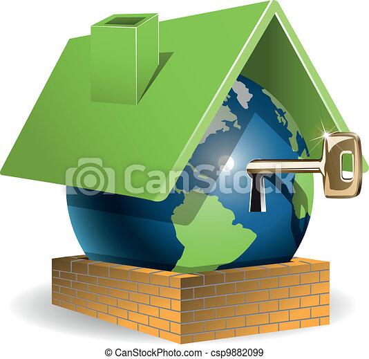 家, 地球 - csp9882099