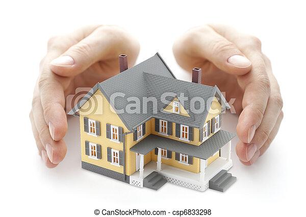 家, 安全である - csp6833298