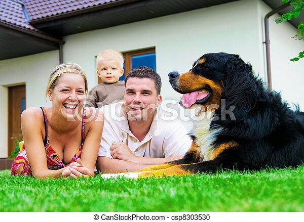 家, 家族, 幸せ - csp8303530