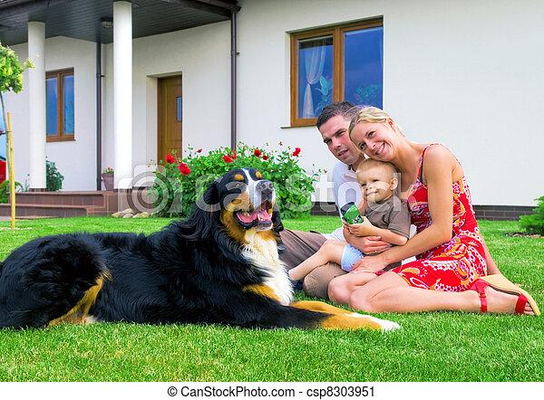家, 家族, 幸せ - csp8303951