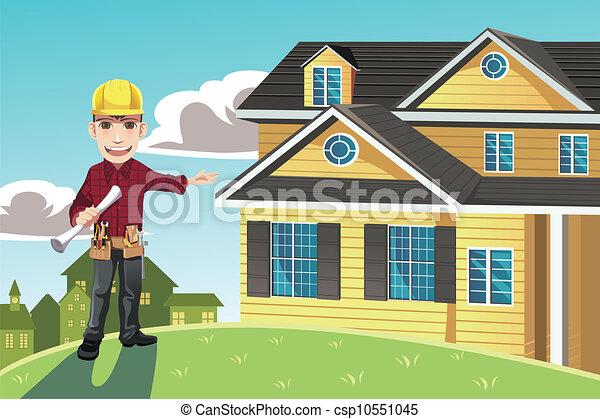 家, 建築者 - csp10551045