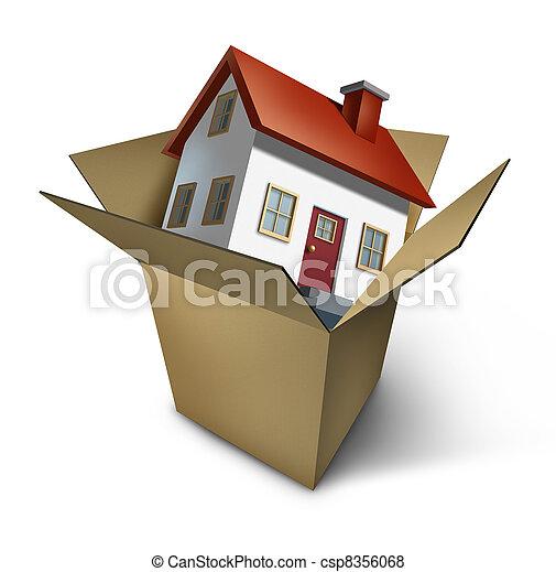 家, 引っ越し - csp8356068