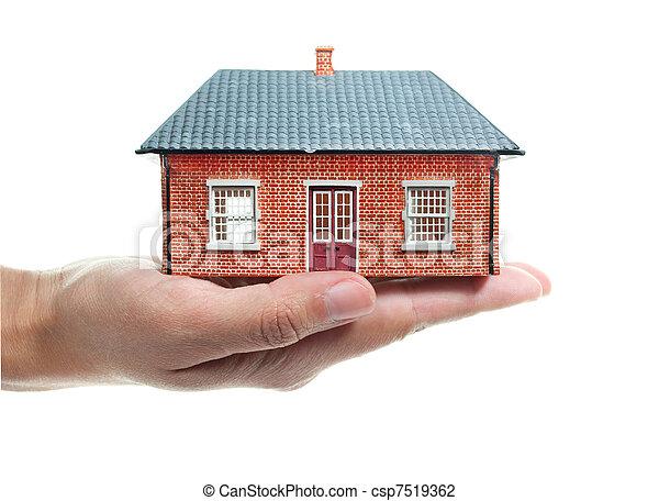 家, 手 - csp7519362