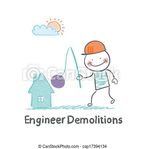 家, 爆破, 工程师, 破坏 - csp17394134