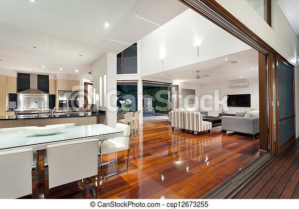 家, 現代 - csp12673255