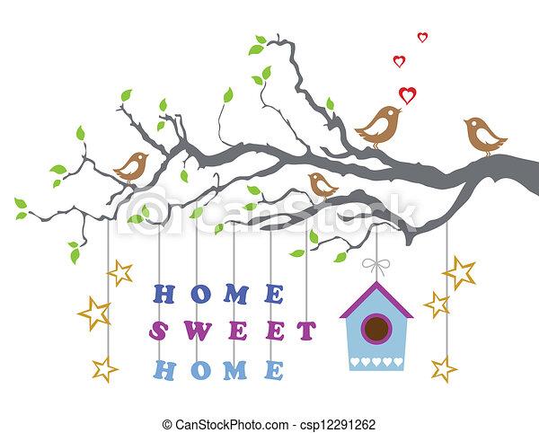 家, 甘い, 新しい, カード, 家 - csp12291262