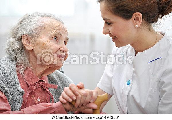 家, 看護 - csp14943561