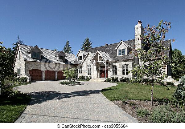 家, 石, 贅沢, 郊外 - csp3055604