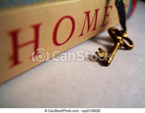 家, 私, 最初に - csp0106628