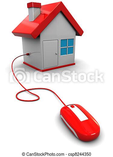 家, 聪明 - csp8244350