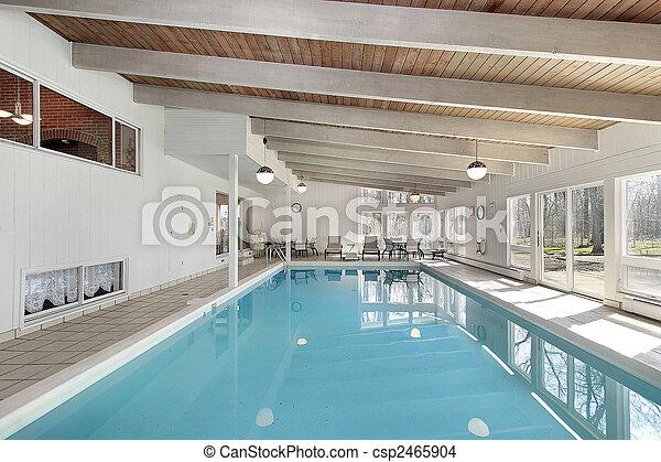 家, 贅沢, プール, 水泳 - csp2465904