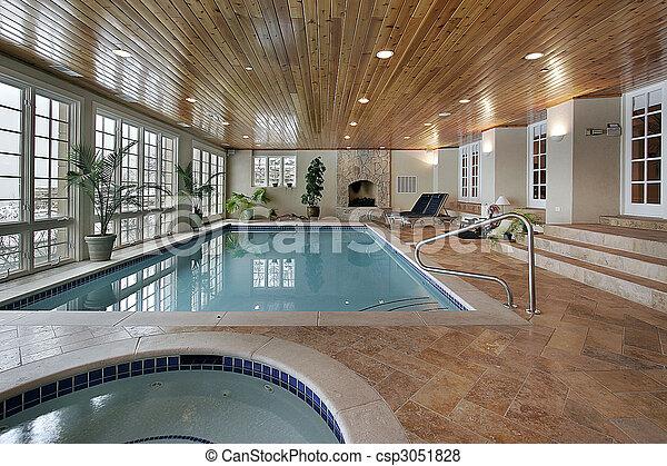 家, 贅沢, プール, 水泳 - csp3051828