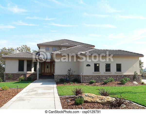 家, 郊區 - csp0129791
