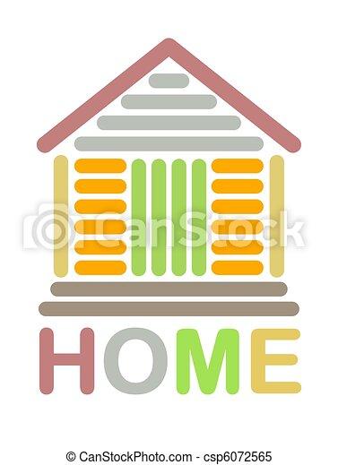 家, 鮮艷, 圖象 - csp6072565