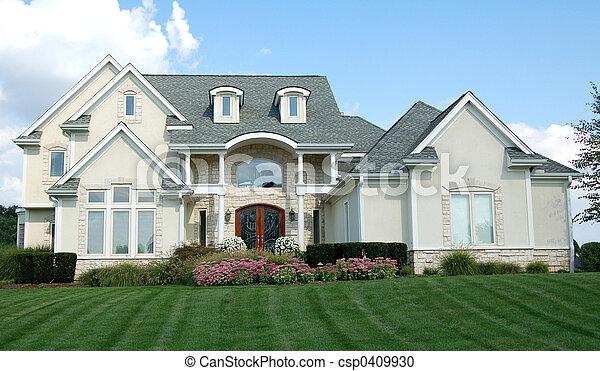 家, 2階建てである - csp0409930