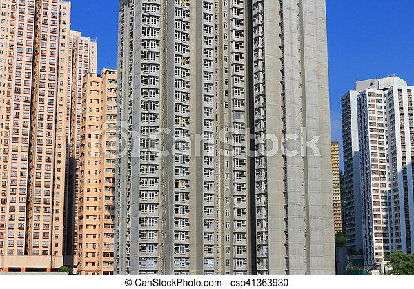 家, hong, 公衆, 財産, kong - csp41363930