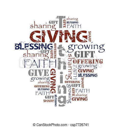 寄付, tithing, 背景 - csp7726741