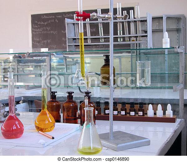 實驗室, 書桌 - csp0146890