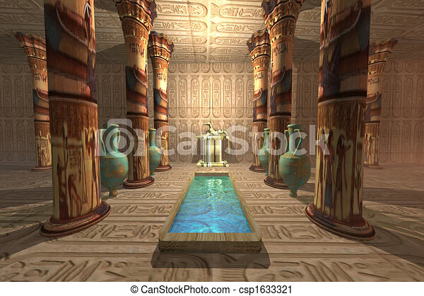 寺院, エジプト人 - csp1633321