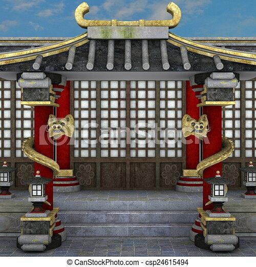 寺院 - csp24615494
