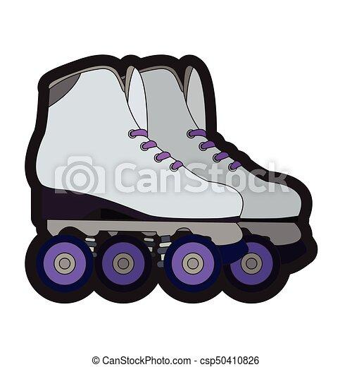 対, ローラー スケート - csp50410826