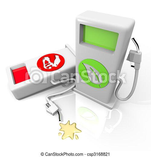 ∥対∥, 古い, ガソリン, 燃料, 戦い, 選択肢 - csp3168821
