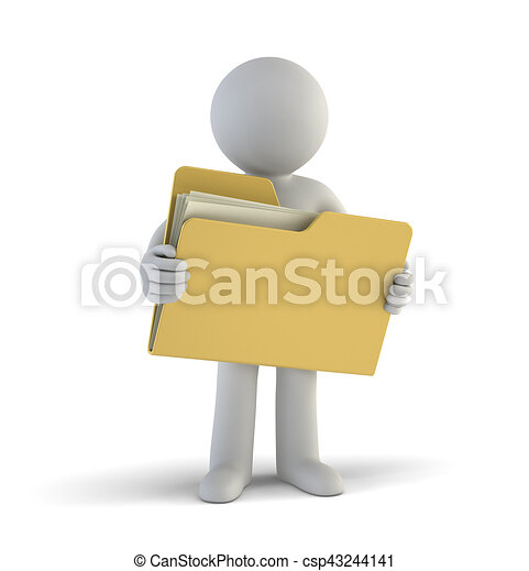 小さい, ファイル, 3d, -, 人々 - csp43244141