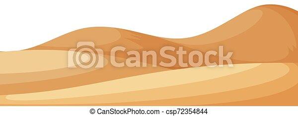 小さい, 砂, 風景, 丘, 背景 - csp72354844