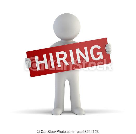 小さい, 雇用, 3d, -, 人々 - csp43244128