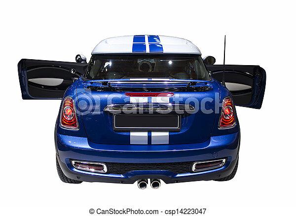 小さい, 青, スポーツ, 隔離された, 自動車 - csp14223047