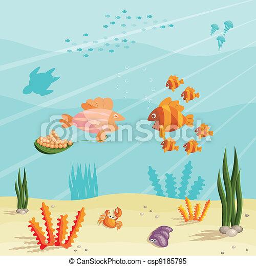 小さい, 魚, 生活 - csp9185795