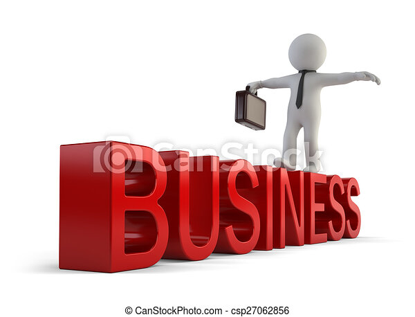 小さい, 3d, -, ビジネス 人々 - csp27062856