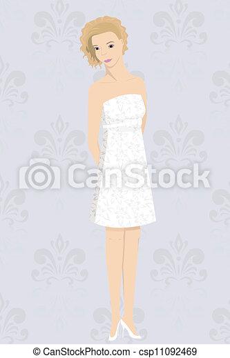 小型 服, 花嫁 - csp11092469