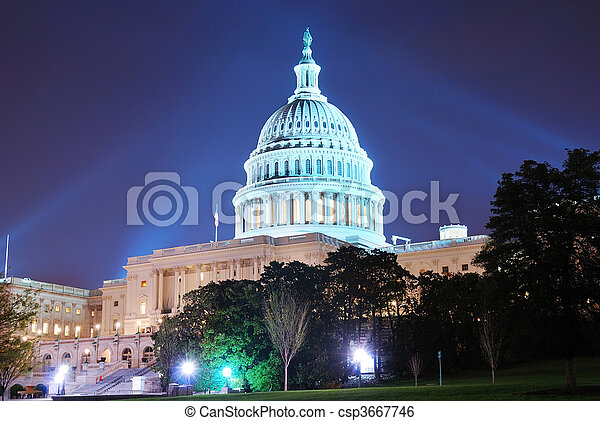 小山, 華盛頓, 建築物, dc, 州議會大廈 - csp3667746