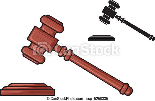 小槌, 裁判官, -, ハンマー - csp15258335