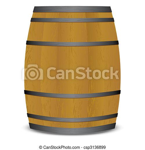 小樽, ビール樽 - csp3136899