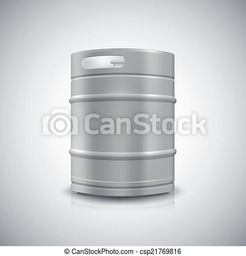 小樽, ビール, 金属 - csp21769816